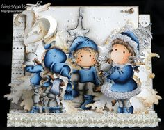 Copics I used: Sweet Christmas Tilda Skin: E31, 21, 00, 000, R20 Hair: E57, 43, 42, 41, 40 Tilda with Fir: Skin: E31, 21, 00, 000, R20 Hair:...