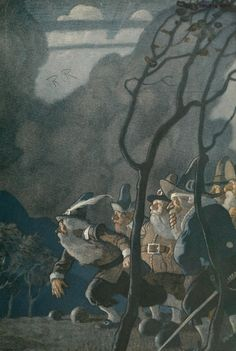 N.C. Wyeth. Endpaper for Rip Van Winkle