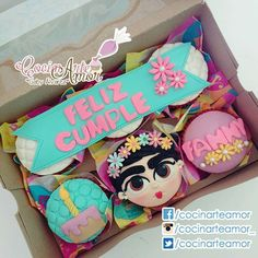 Cookie Gift Boxes, Cookie Gifts, Mother's Day Cookies, Birthday Cake Pops, Fondant Cupcakes, Amazing Cakes, Oreo, Cake Toppers, Ldr