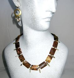 Ocean Jasper Necklace and Earring Set by blingbychristine on Etsy, $40.00