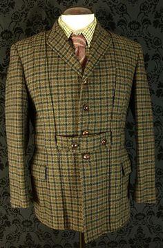 58310a09ec Mens Vtg Norfolk Tweed Shooting Hunting Jacket Coat Huntsman Savile Row 40  42 Norfolk Jacket