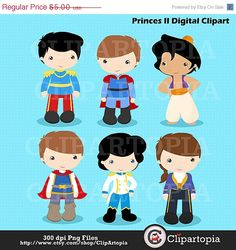50 OFF SALE Princes Digital Clipart / Fairytale by ClipArtopia, $2.50