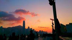 Sunset at Hong Kong 23/02/2014 <3
