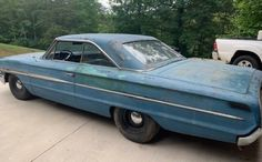 Solides Projekt: 1964 Ford Galaxie 500 XL – Barn Finds – Join in the world of pin Corvette Price, Shades Of Dark Blue, Buick Roadmaster, Ford Maverick, 1964 Ford, Ford Classic Cars, Ford Fairlane, Barn Finds, Cars For Sale
