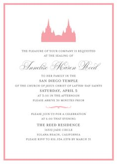 Image Result For Lds Wedding Announcement Layout Invitations