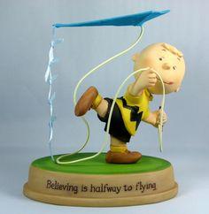 Charlie Brown Flies Kite figurine.