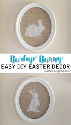 This is so cute! This burlap bunny Easter decor is such a simple project and it's great for the neutral/rustic/farmhouse style!