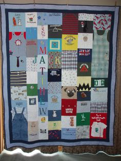 CUSTOM ORDERS for Quilts made from your baby clothes by BarbMalm on Etsy