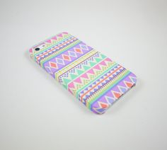 Pastel Aztec Geometric  iPhone 5 Case, iPhone 5 Cover, Hard iPhone 5 Case. $18.00, via Etsy.