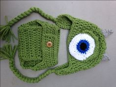 Monster's Inc. Mike Wazowski Newborn Baby Photo Prop Hat Diaper Cover Boy by LakeEffectCreations on Etsy