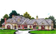 1000 images about houses on pinterest european house for French country house plans with porte cochere