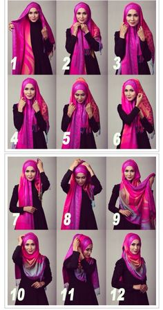 Find our latest new hijab styles 2020 step by step. Learn how to take hijab without a pin. You will be helped out in learning by making a tutorial series of taking hijab. See chest covering hijab style for girls and much more. New Hijab Style, Hijab Style Dress, Hijab Chic, Hijab Outfit, Islamic Fashion, Muslim Fashion, How To Wear Hijab, Hijab Style Tutorial, Simple Hijab