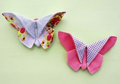 How to make fabric butterflies (Finnish website) Fabric Butterfly, Sewing Tutorials, Upcycle, Band, Butterflies, How To Make, Accessories, Inspiration, Website