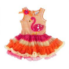 Rare Editions Girls 4-6x Flamingo Tutu Dress #VonMaur #RareEditions #Orange #Flamingo #Colorful