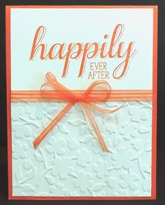 Stampin For Me: Wedding Card, Big News Stamp Set