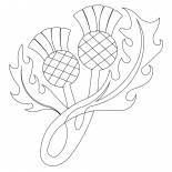 Scottish Thistle Quilting Pattern