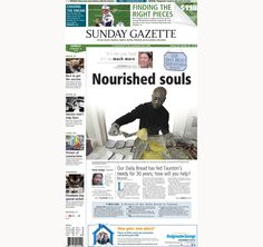 The front page of the Taunton Daily Gazette for Sunday, Feb. 15, 2015.