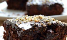 Κέικ σοκολάτας νηστίσιμο με πορτοκάλι και καρύδια, από την Ιωάννα Σταμούλου και το Sweetly! Grapefruit, Vegan, Chocolate, Cooking, Sweet, Desserts, Food, Cakes, Drink