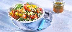 Lauwarmer Zucchini-Tomatensalat
