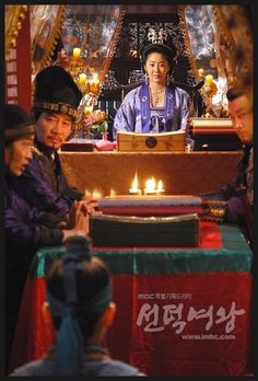 Queen Seondeok(Hangul:선덕여왕;RR:Seondeok Yeowang) is a 2009South Koreanhistorical drama as part ofMBCtelevision network 48th-founding anniversary special drama, starringLee Yo-won,Go Hyun-jung,Uhm Tae-woong,Park Ye-jin,Kim Nam-gilandYoo Seung-ho. It chronicles the life ofQueen Seondeok of Silla. It aired on MBC for 62 episodes.