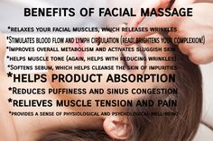 Everyone loves a good massage right? Your face needs one too! In this post I talk about the benefits of facial massage + the different types of massage + provide some resources for learning to DIY. #thepunkrockesthetician #goodskinistotallypunkrock #skincareblog #skincare #blog #blogger #beautyblogger #girlboss #bossbabe #glampire #hustlin #massage #facialmassage