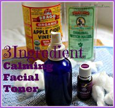 3 Ingredient Calming Facial Toner - Happy Healthnut #skin #facialtone #DIY