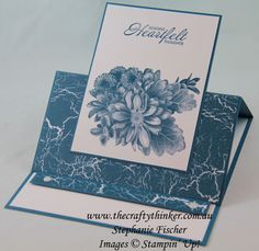 www.thecraftythinker.com.au, Heartfelt Blooms, Saleabration, Easel Card, Fun Fold, Stampin' Up