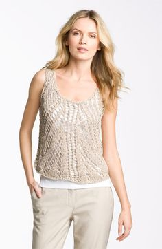 Eileen Fisher Open Stitch Tank available at Nordstrom