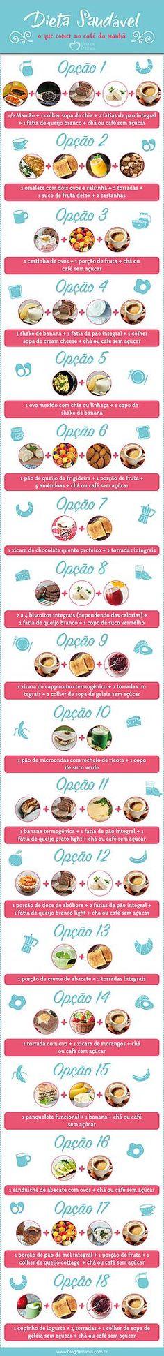 Dieta saudável: o que comer no café da manhã