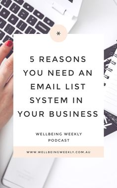 "Podcast Ep 91 | ""I Don't Know How To Reach My Ideal Client"" - 5 Reasons You Need An Email List System In Your Business - Wellbeing WeeklyWellbeing Weekly Reach Me, Be Your Own Boss, Email List, Email Marketing, Cards Against Humanity, Business, Store, Business Illustration"