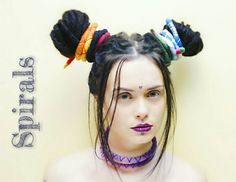 Felted universal spirals are used as dreadlocks bands, ties, holders. Check out this item in my Etsy shop https://www.etsy.com/ru/listing/508326087/felted-dreadlocks-spirals-dreadlock