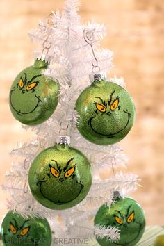 Grinch Ornaments Make Your Own Christmas Or Give Them As Gifts