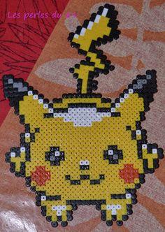 Pokémon pikachu en perle hama à repasser
