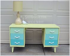 I have a desk that needs painting.  May do something similar.