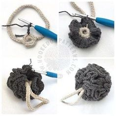 Free Crochet Shower Puff Pattern , Best Picture For Knitting Pattern tutorials For Your Taste You are looking for something, and it is going to tell you exactly what you are Crochet Diy, Crochet Video, Crochet Faces, Crochet Amigurumi, Crochet Home, Crochet Doilies, Crochet Kitchen, Crochet Animals, Crochet Flowers