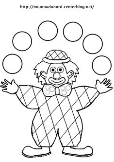 Coloring harlequin clown juggler drawn by nounoudunord Circus Crafts, Carnival Crafts, Clown Party, Dot Painting, Painting For Kids, Coloring For Kids, Coloring Pages, Theme Carnaval, Preschool Art Activities