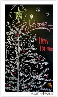 holiday chalkboard art