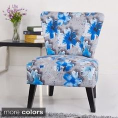 Blue Grey Floral Accent Chair Repurposed Furniture, New Furniture, Dining  Room Furniture, Painted