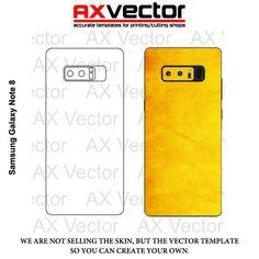 Samsung Galaxy Note 8 Vector Template, Contour Cut.