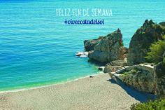 Feliz fin de semana desde Playa Maro, #Málaga #ViveCostadelSol