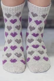 Knitting Patterns Mittens Socks with hearts Novita Nalle Crochet Socks, Knit Mittens, Knitting Socks, Baby Knitting Patterns, Crochet Patterns, Slipper Socks, Slippers, Woolen Socks, Knitted Heart