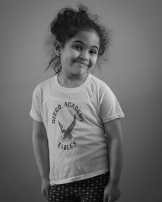 Can't believe I was this small in kindergarten. Natalia rocking my Jose de Diego Academy shirt today.  #flahbackfriday #fbf #fujifilm #minolta #manualfocus #kids #chicago #monochrome