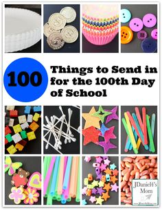 100 Things to Send in for the 100th Day of School - ideas for loose items + activities