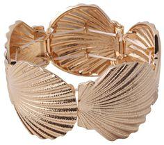 Bijou Brigitte  Armband - Golden Mussel