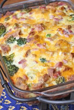 Ham and Broccoli Breakfast Casserole with Extra-Sharp Cheddar – $5 Dinner Challenge