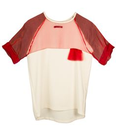 $127.75 Sangria Red Cotton T-Shirt by Bomee.  Shop here:http://www.trendcy.com/sangria-red-cotton-t-shirt/