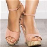 wedge sandals pink woman elasthomère heels 12 cm size 40, on line shop Modatoi. buy shoes on website modatoi.co.uk.