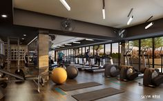 √ Best Home Gym Ideas and Gym Rooms for Your Training Room A home gym is a great means to save money. Have a look at the top home gym ideas in addition to tiny exercise room ideas for your home. Piscina Spa, Sport Studio, Luxury Gym, Gym Lighting, Gym Interior, Interior Designing, Hotel Gym, Home Gym Design, Garage Design