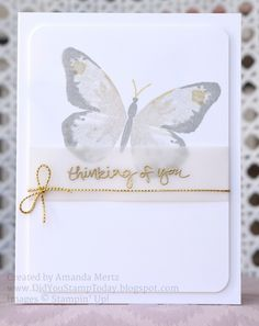 Butterfly in Gray & Gold by mandypandy - Cards and Paper Crafts at Splitcoaststampers
