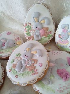 Grey Easter Bunnies